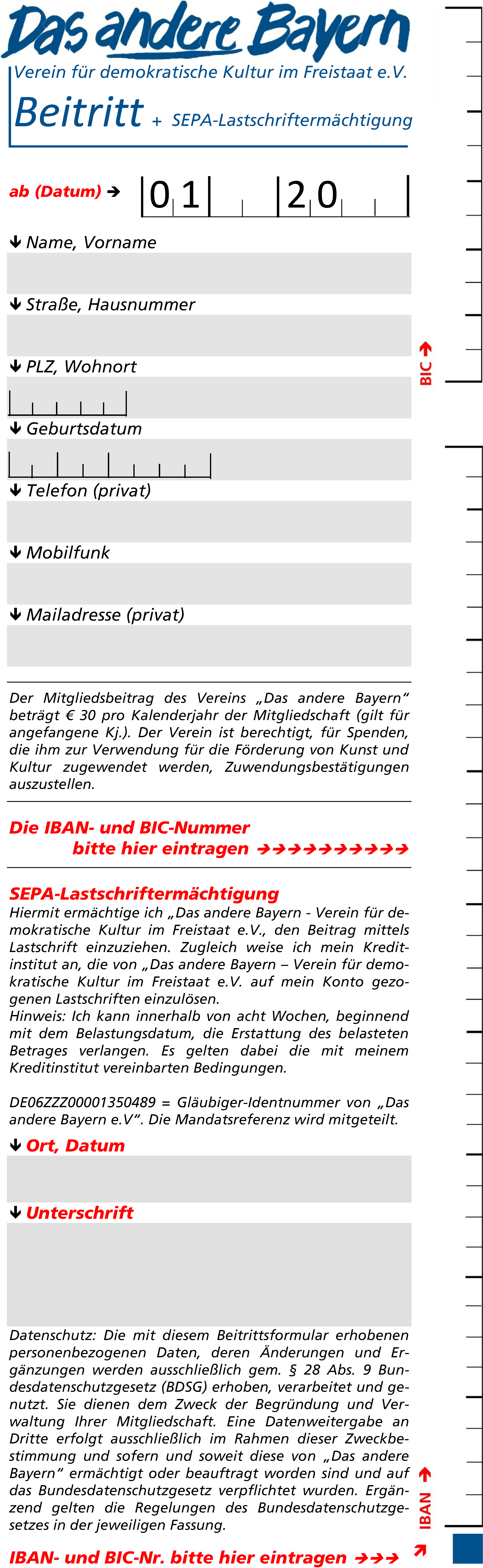 2014_Aufnahmeschein Das andere Bayern
