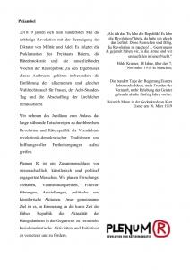 Präambel Plenum R