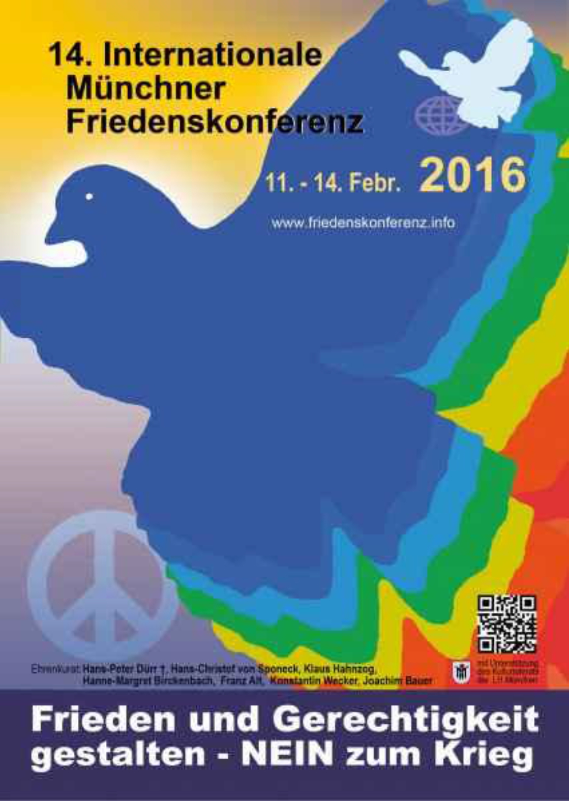 Plakat Friedenskonferenz 2016