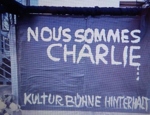 Nous sommes Charlie – Link zur Gedenkveranstaltung in der Kulturbühne Hinterhalt